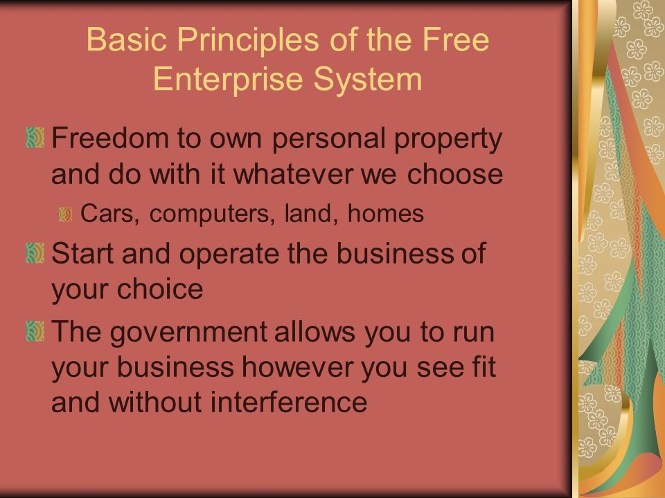 Basic Principles of the Free Enterprise System