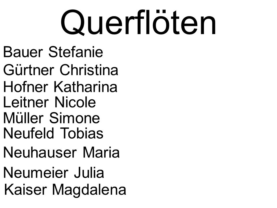 Querflöten Bauer Stefanie Gürtner Christina Hofner Katharina