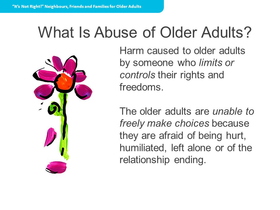 What Is Abuse of Older Adults