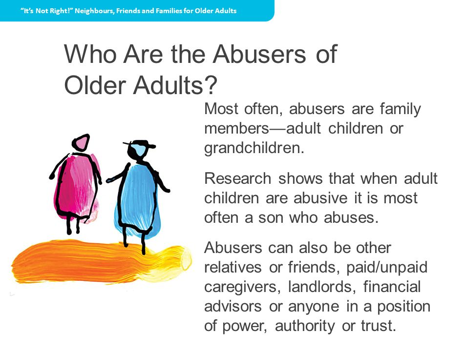 Who Are the Abusers of Older Adults