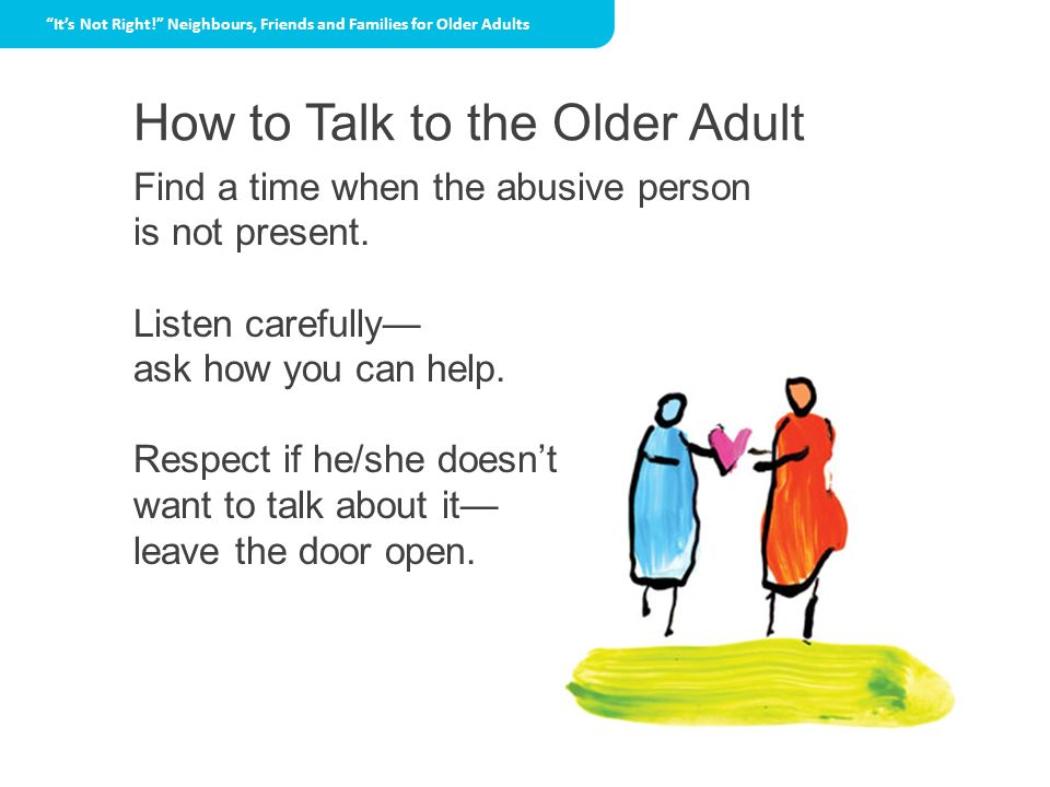 How to Talk to the Older Adult