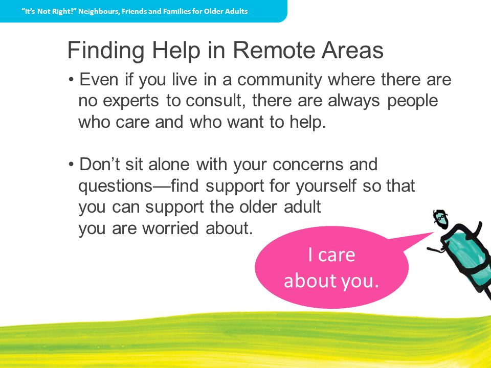 Finding Help in Remote Areas