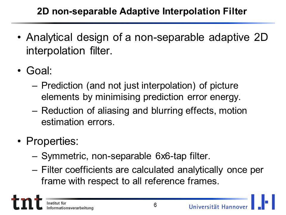 2D non-separable Adaptive Interpolation Filter