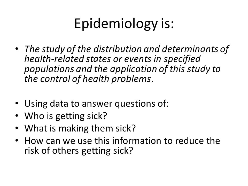 Epidemiology is: