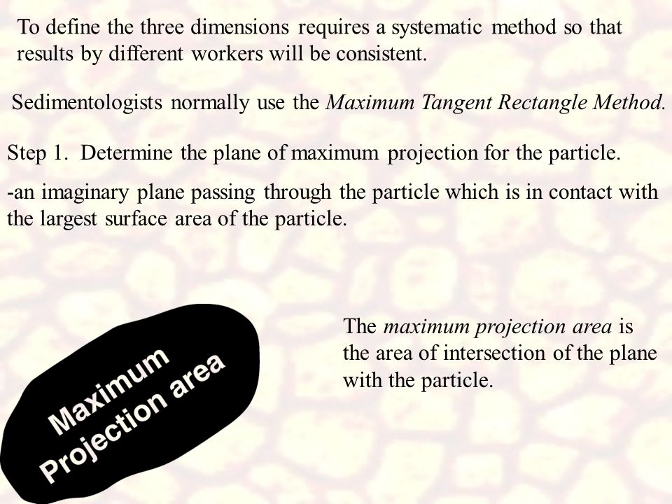 To define the three dimensions requires a systematic method so that results by different workers will be consistent.