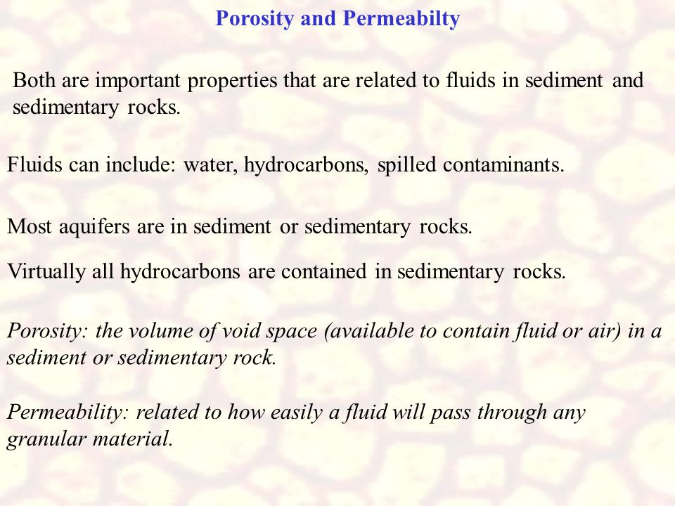 Porosity and Permeabilty
