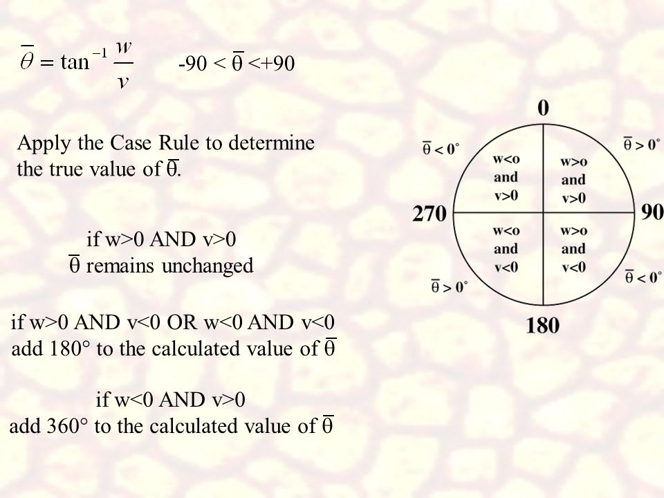 Apply the Case Rule to determine the true value of q.
