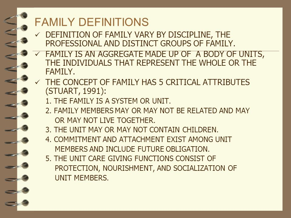 Conceptual definition of family