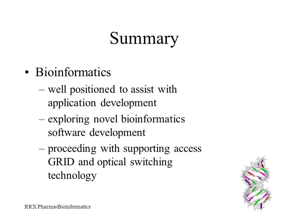 Summary Bioinformatics
