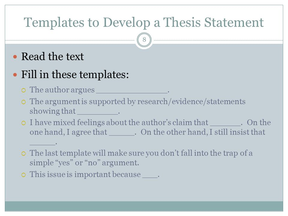 academic writing thesis statement development by formula u of manitoba Appalachian state university writing center: creating a thesis statement sterling, amy how to write a thesis for a narrative essay accessed may 17.