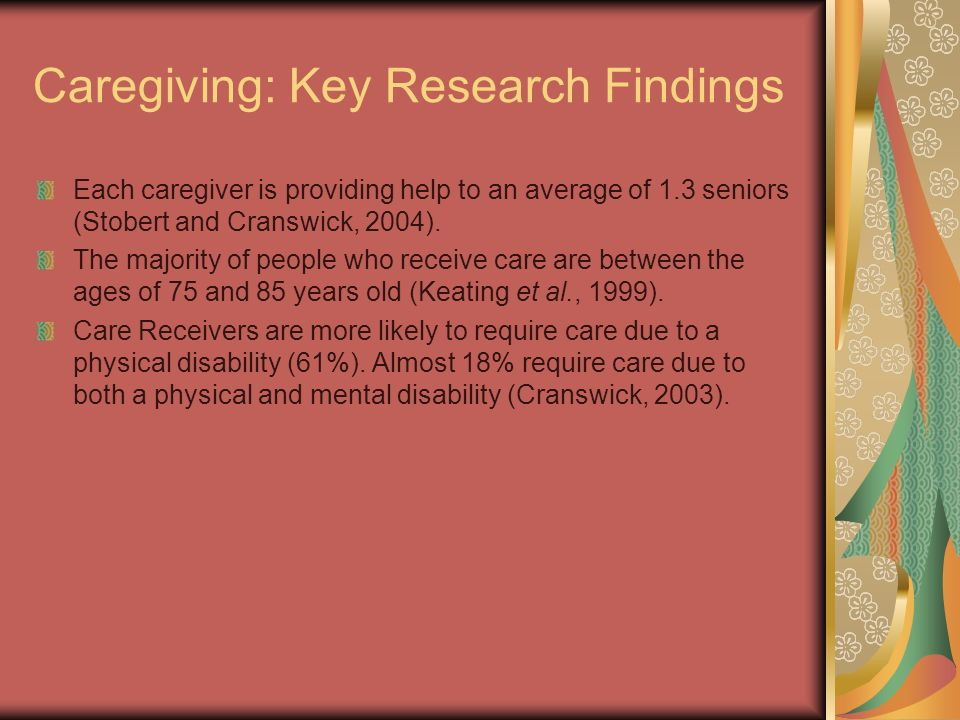 Caregiving: Key Research Findings