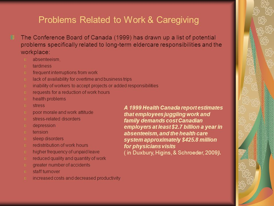 Problems Related to Work & Caregiving