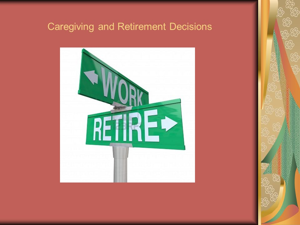 Caregiving and Retirement Decisions