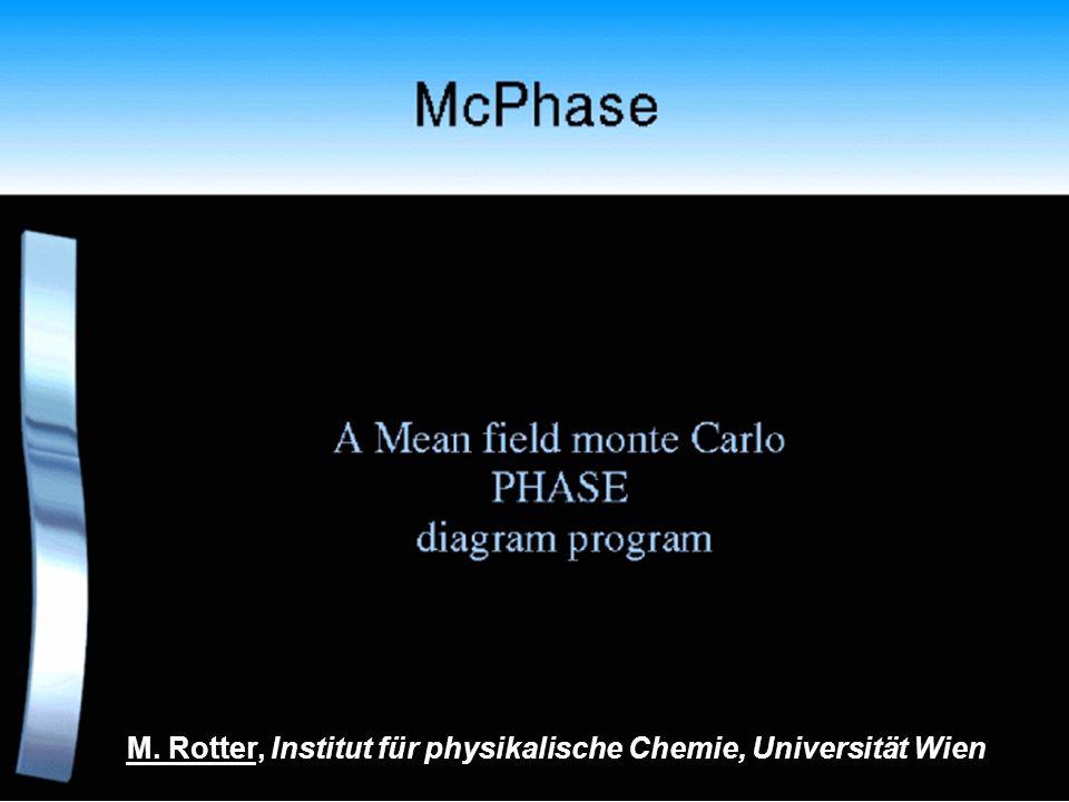 M. Rotter, Institut für physikalische Chemie, Universität Wien