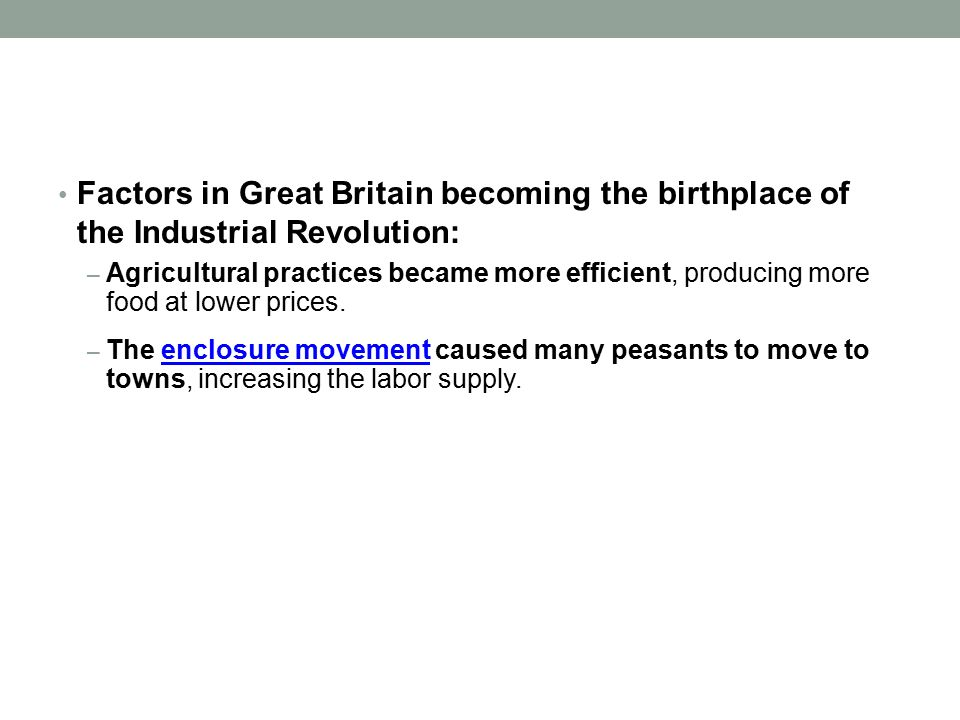 great britain the root of the industrial revolution Industrial revolution - great britain cancel britain's industrial revolution: the making of a manufacturing people  the british industrial revolution: an.