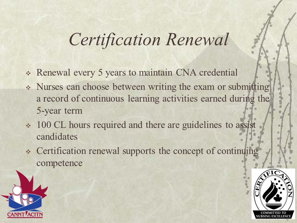Certification Renewal