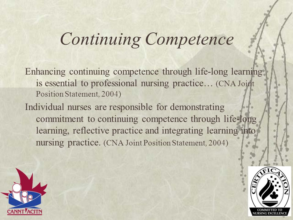 Continuing Competence