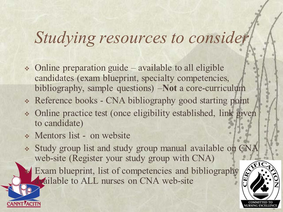 Studying resources to consider