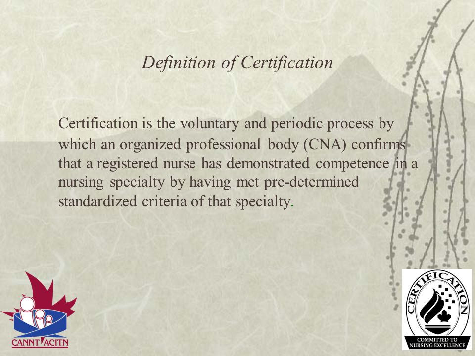 Definition of Certification