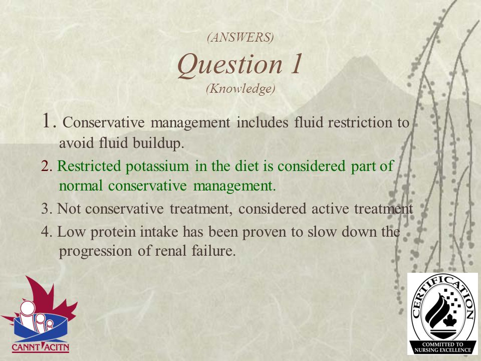 (ANSWERS) Question 1 (Knowledge)