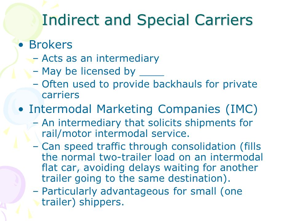 Chapters 5 transportation systems management ppt video for Can a motor carrier broker freight