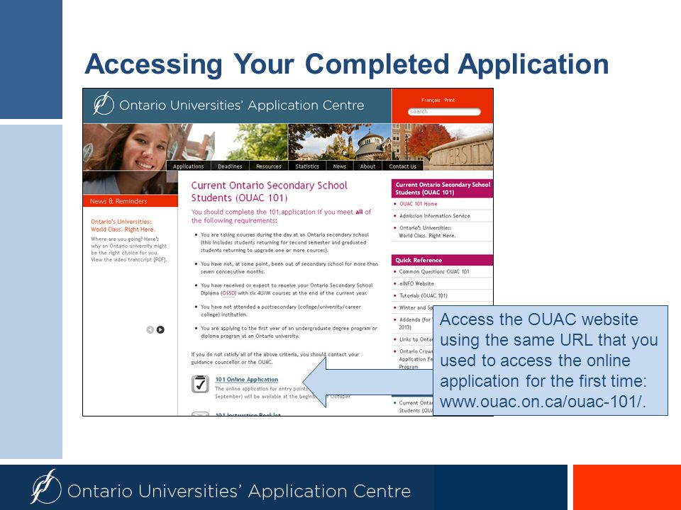 Accessing Your Completed Application