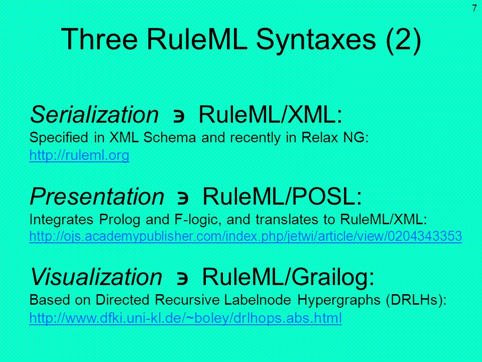 Three RuleML Syntaxes (2)