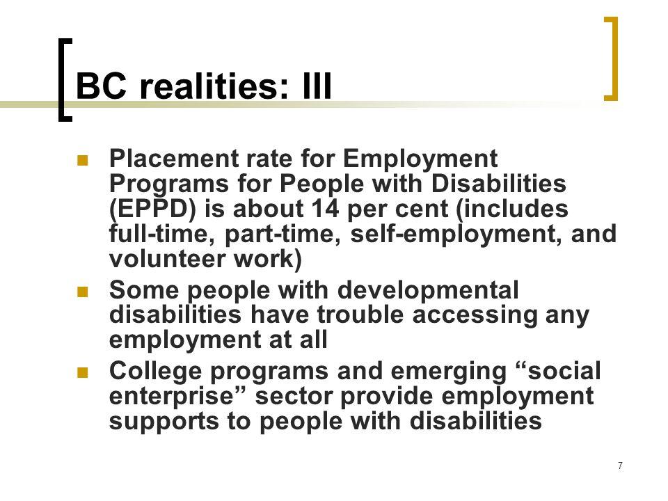 BC realities: III