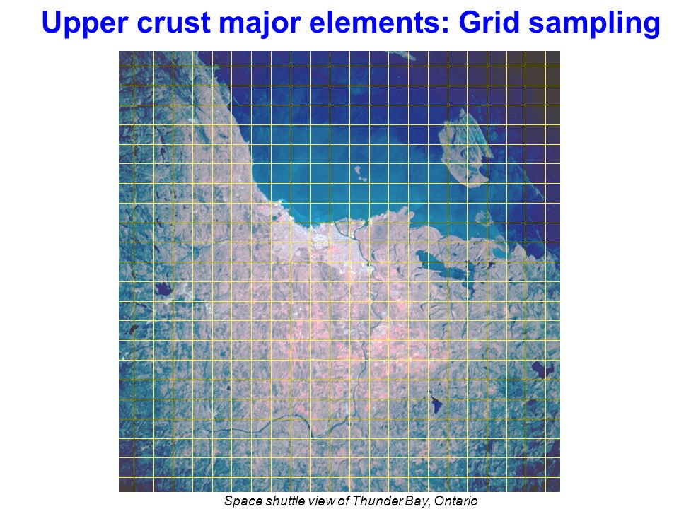 Upper crust major elements: Grid sampling