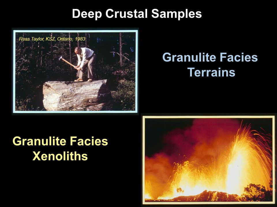Deep Crustal Samples Granulite Facies Terrains Granulite Facies