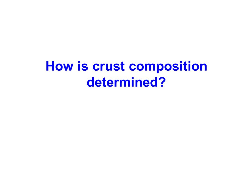 How is crust composition determined
