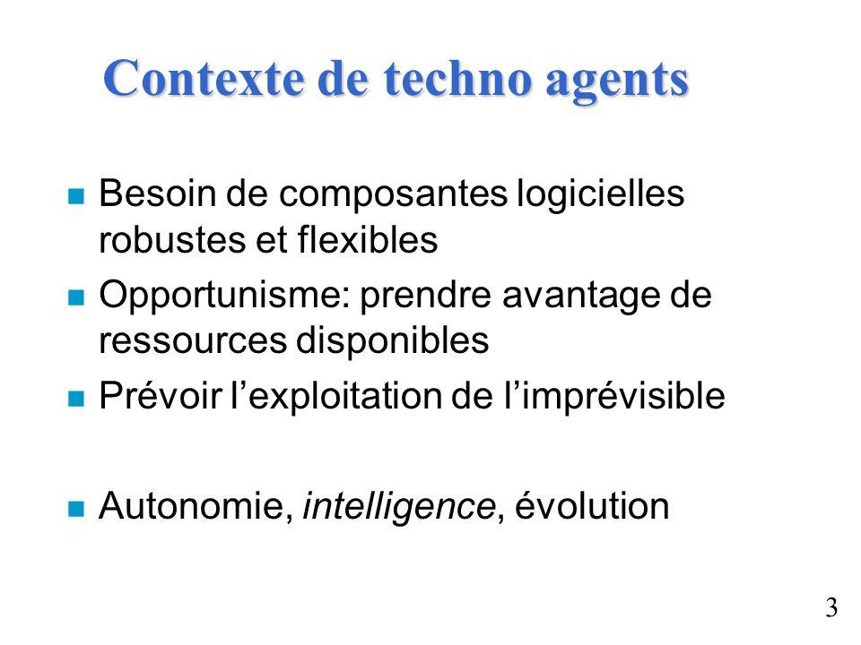 Contexte de techno agents