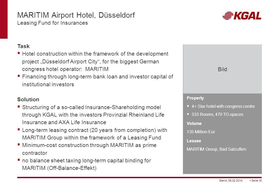 MARITIM Airport Hotel, Düsseldorf Leasing Fund for Insurances