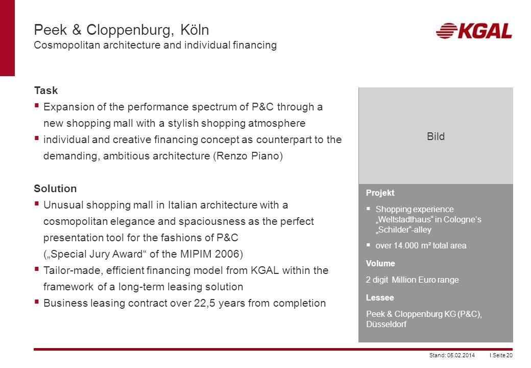 Peek & Cloppenburg, Köln Cosmopolitan architecture and individual financing