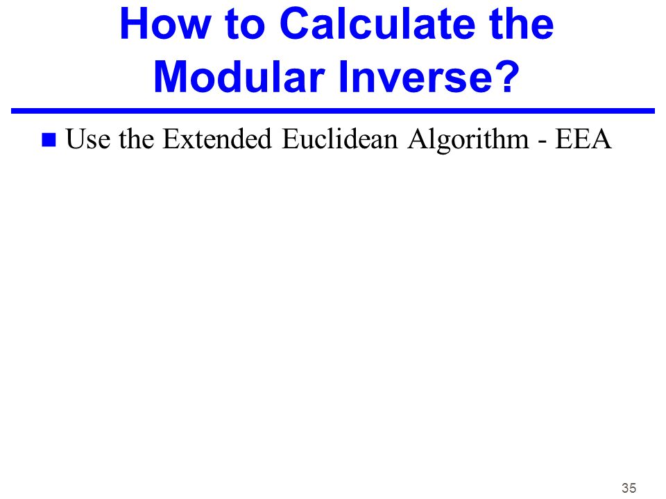 how to find modular inverse