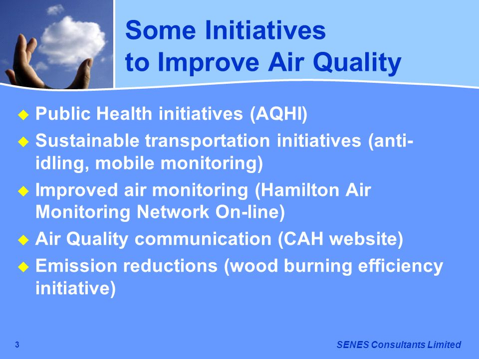 Some Initiatives to Improve Air Quality