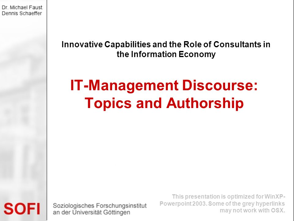 IT-Management Discourse: Topics and Authorship
