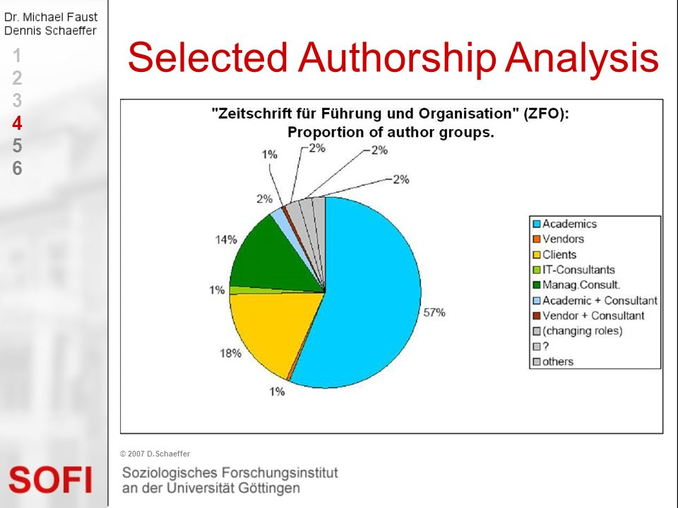 Selected Authorship Analysis