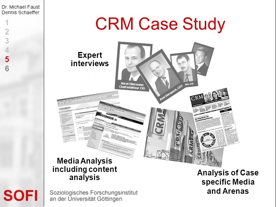 CRM Case Study 1 2 3 4 5 6 Expert interviews