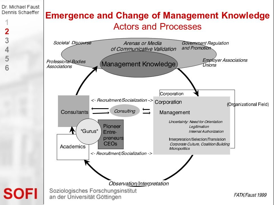 Emergence and Change of Management Knowledge Actors and Processes