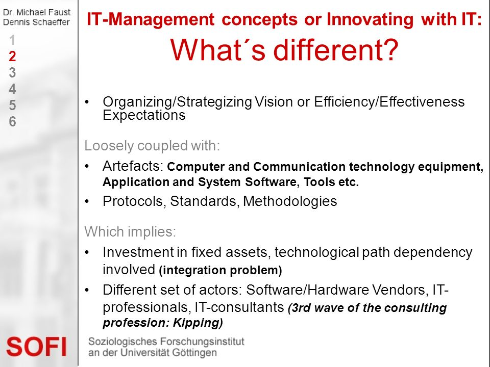 IT-Management concepts or Innovating with IT: What´s different