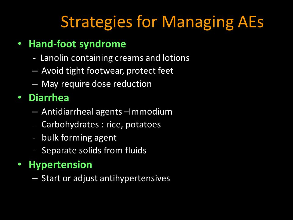 Strategies for Managing AEs
