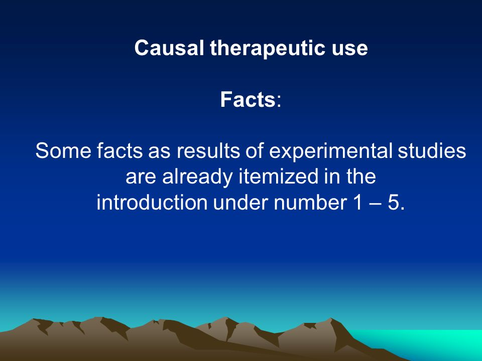 Causal therapeutic use
