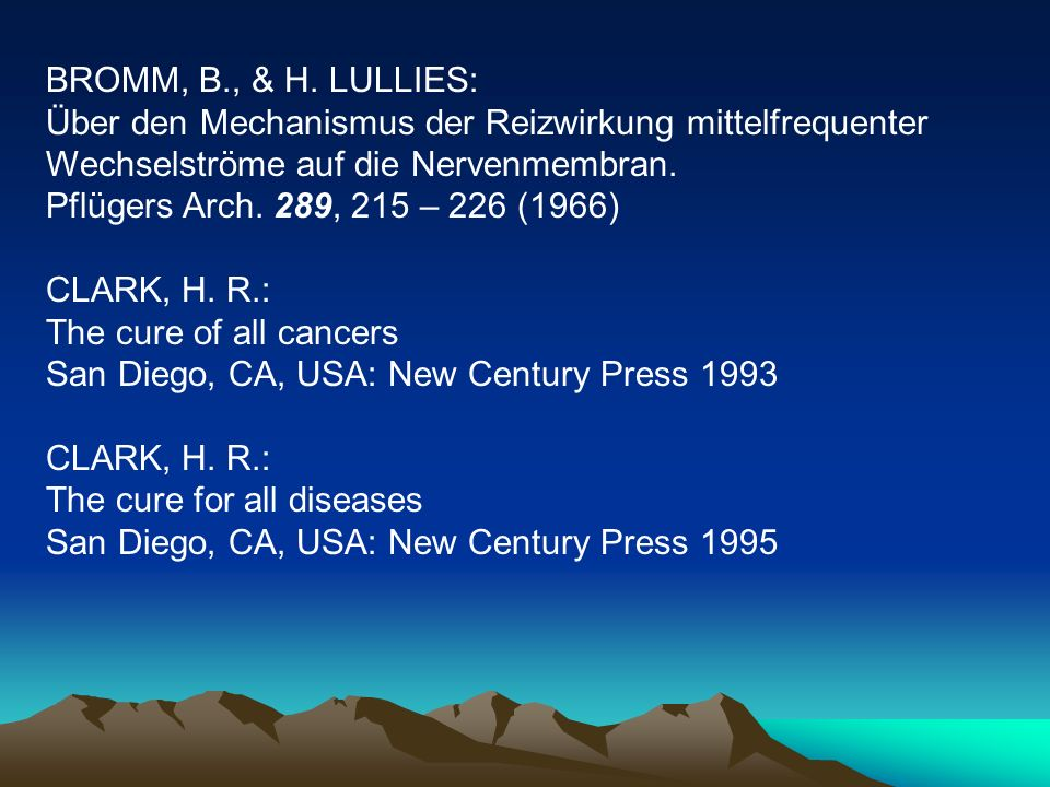 BROMM, B., & H. LULLIES: Über den Mechanismus der Reizwirkung mittelfrequenter Wechselströme auf die Nervenmembran.