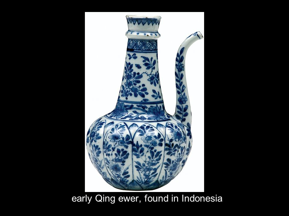 early Qing ewer, found in Indonesia