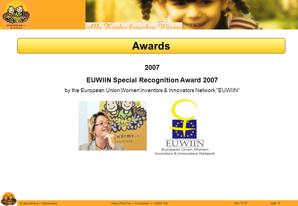 EUWIIN Special Recognition Award 2007