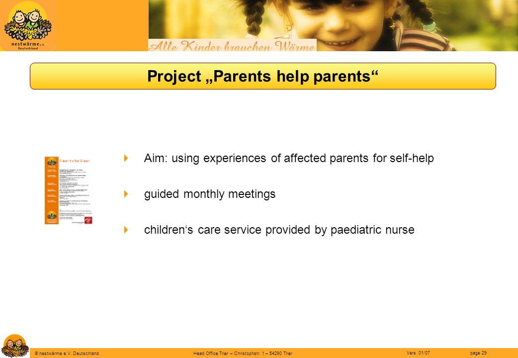 "Project ""Parents help parents"