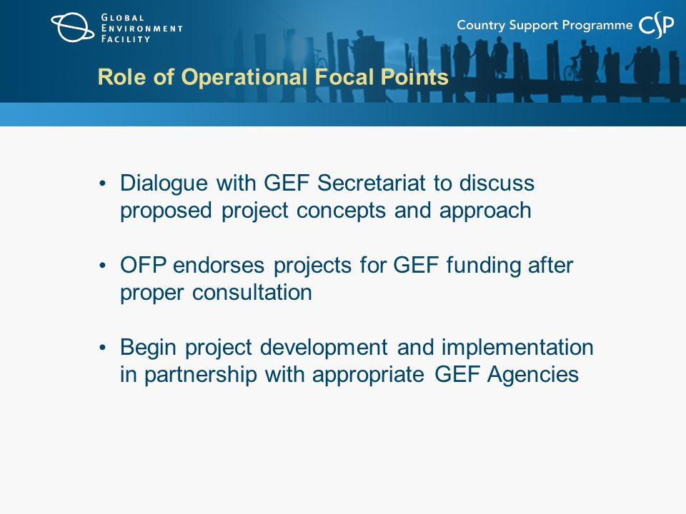 Role of Operational Focal Points