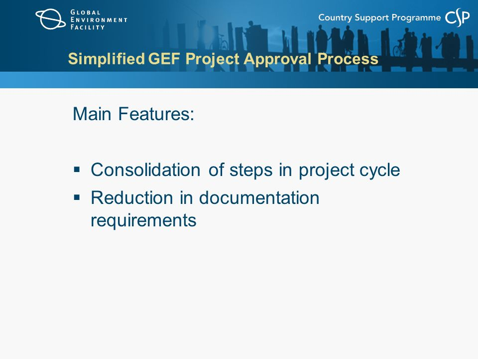 Simplified GEF Project Approval Process