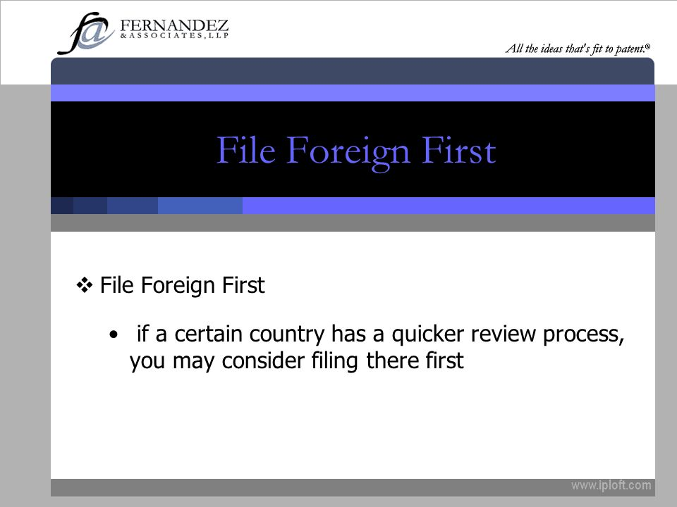 File Foreign First File Foreign First